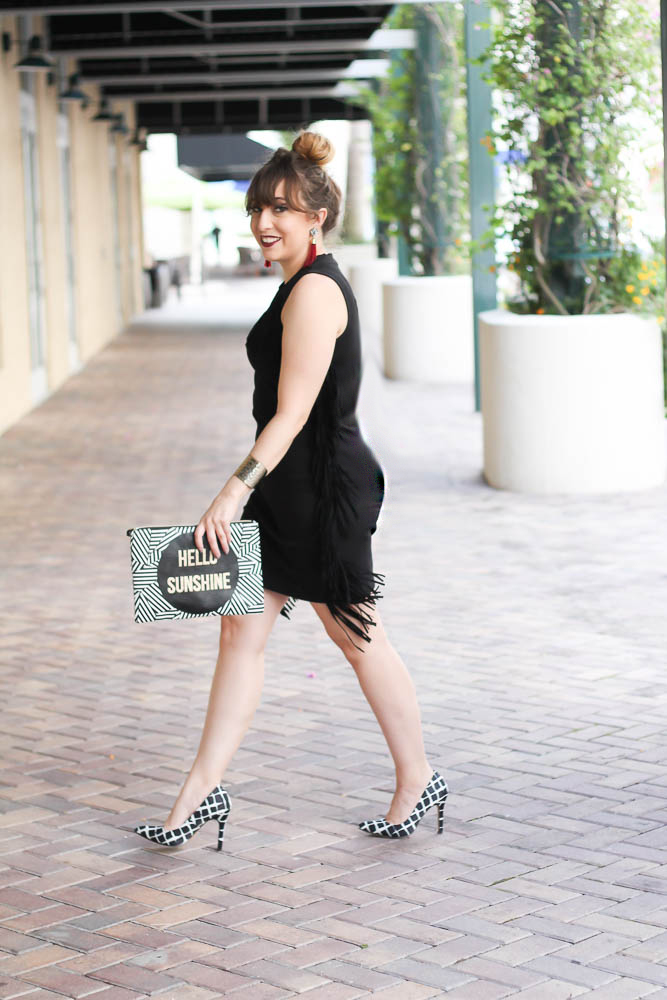 Little Black Fringe Dress (3 of 11)