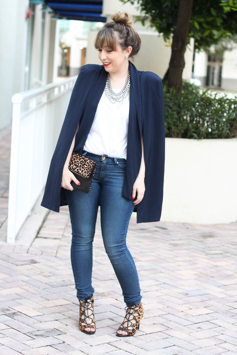 How to style a cape blazer