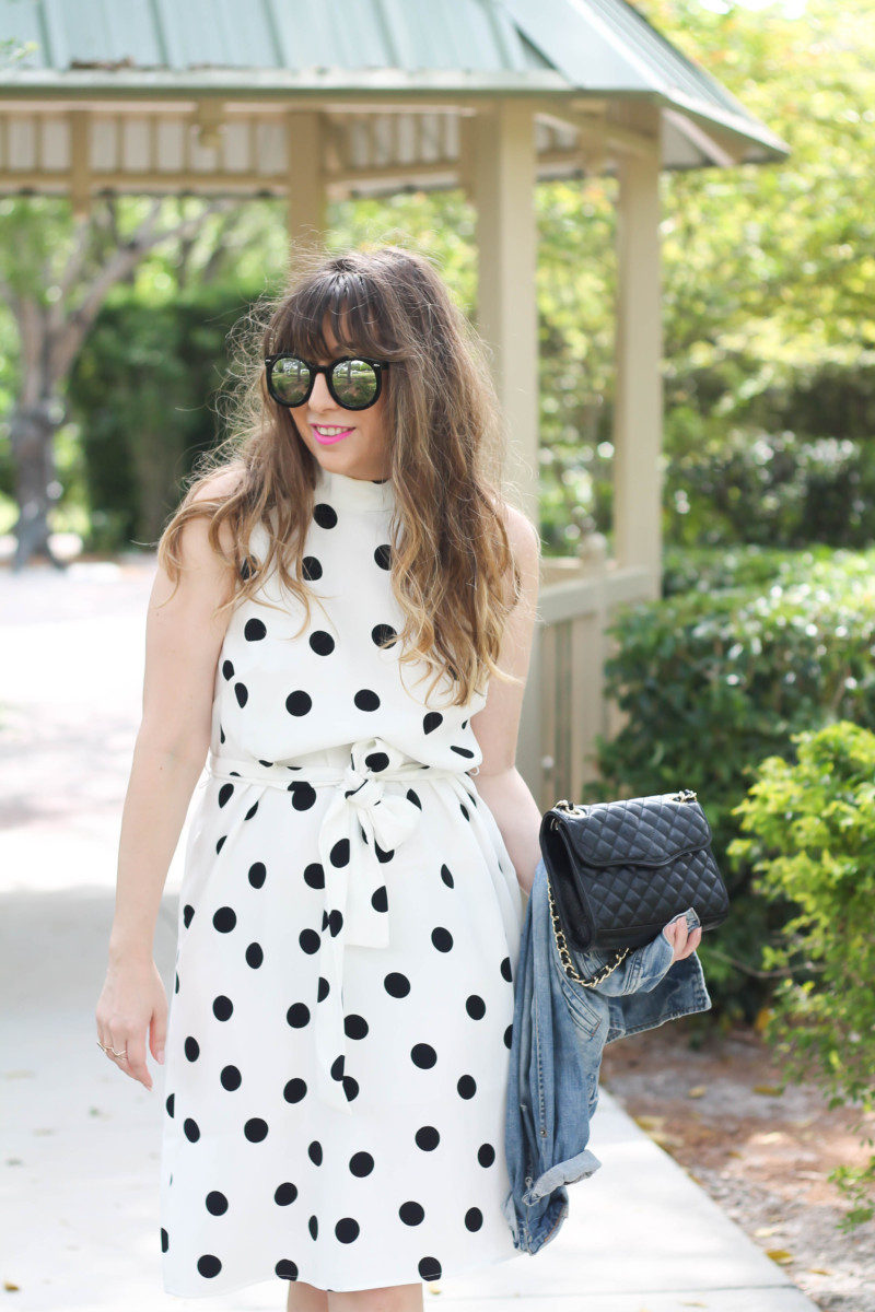 Stephanie Pernas, Ann Taylor polka dot dress