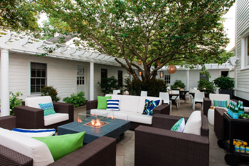 The courtyard at 76 Main in Nantucket