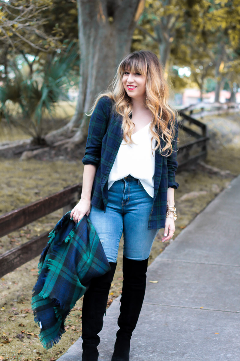 black-watch-plaid-and-jeans-outfit