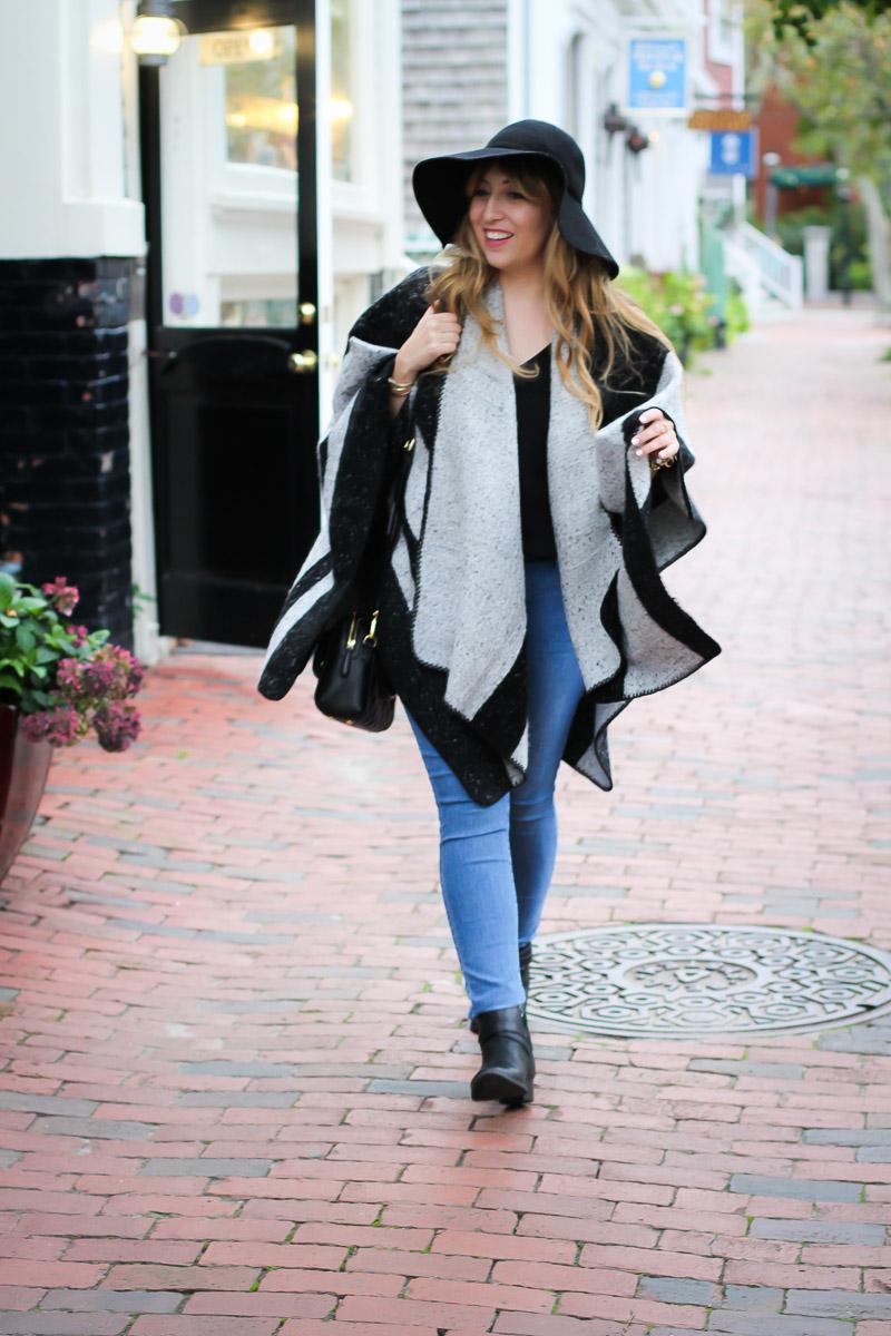 ILY Couture stripe cape