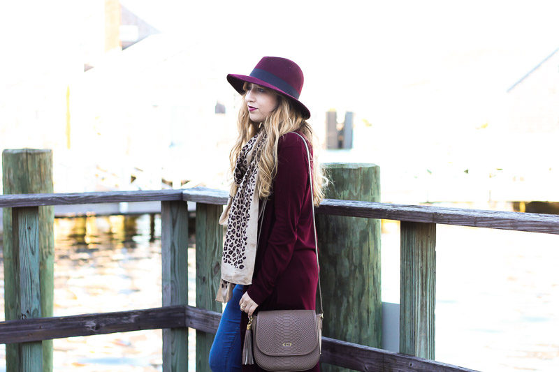 Miami fashion blogger Stephanie Pernas wearing a pretty fall outfit in Nantucket