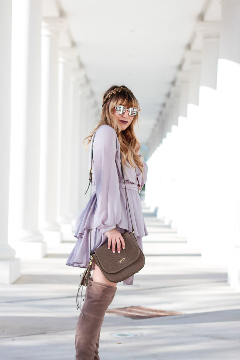 Miami fashion blogger Stephanie Pernas wearing Lioness Amalfi dress from Shopbop for a pretty fall date night outfit idea