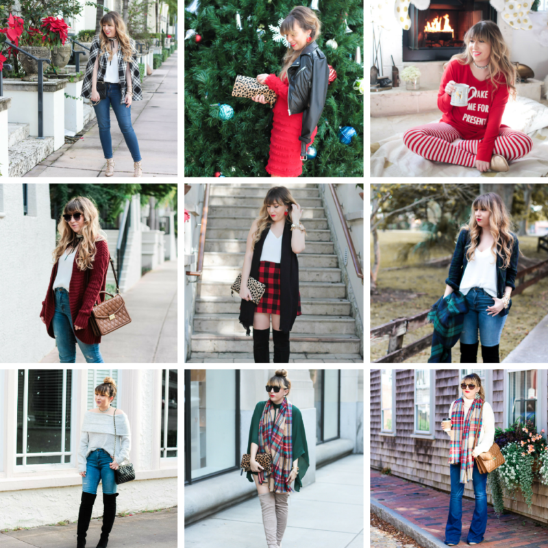 Miami fashion blogger Stephanie Pernas shares 19 christmas outfit ideas and inspiration for putting together the perfect holiday look