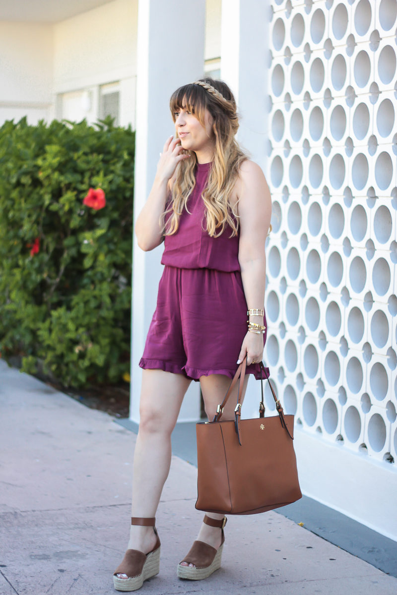 Miami fashion blogger Stephanie Pernas wearing a cute romper outfit idea