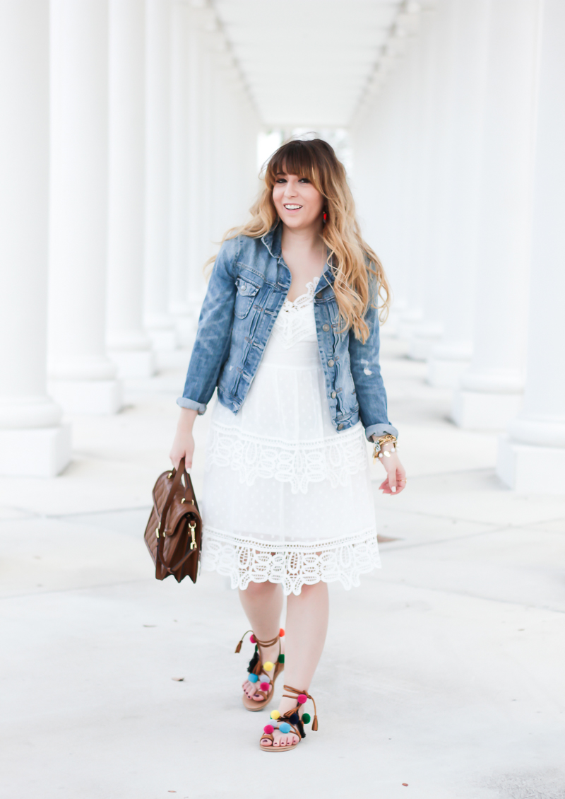 White lace dress – Self Portrait dress look for less-5