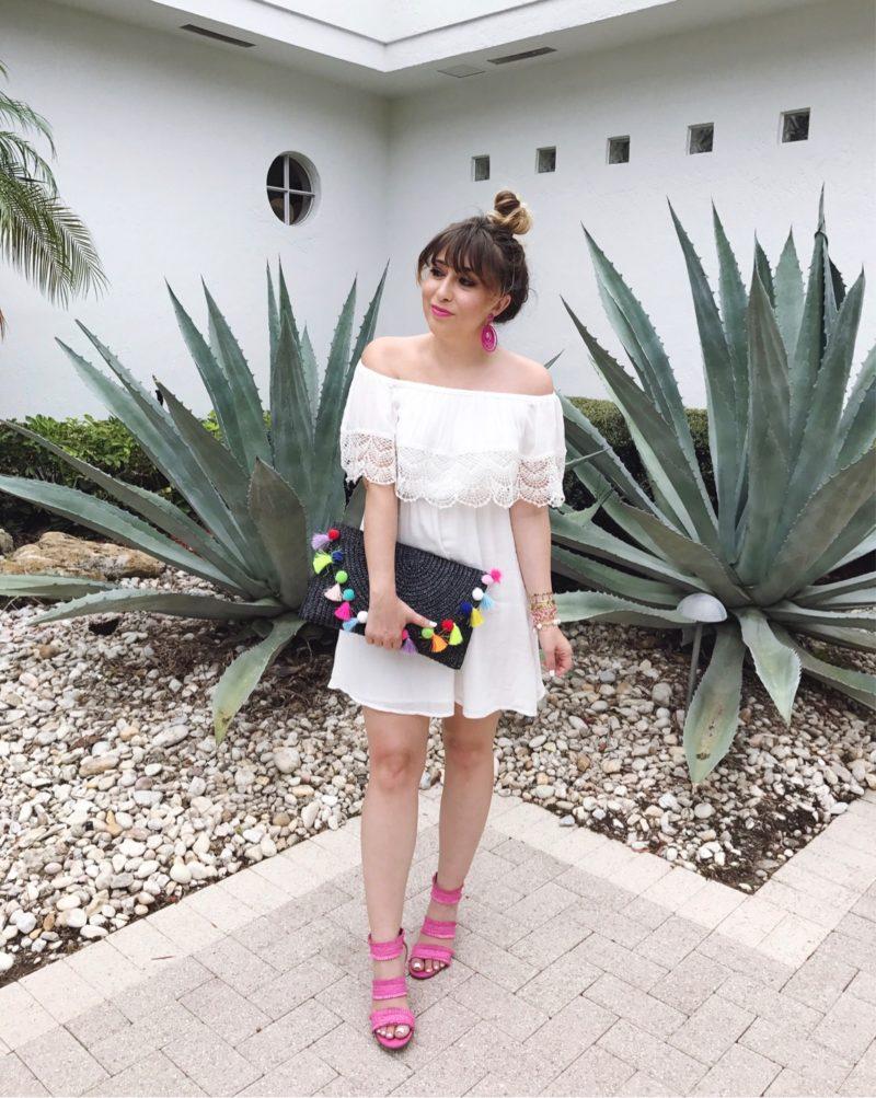 Miami fashion blogger Stephanie Pernas sharing a baby shower outfit idea