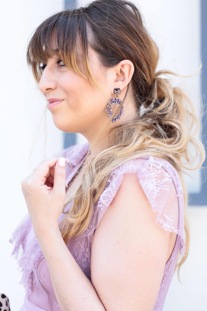 Miami fashion blogger Stephanie Pernas wearing Baublebar Nevaeh Drops earrings