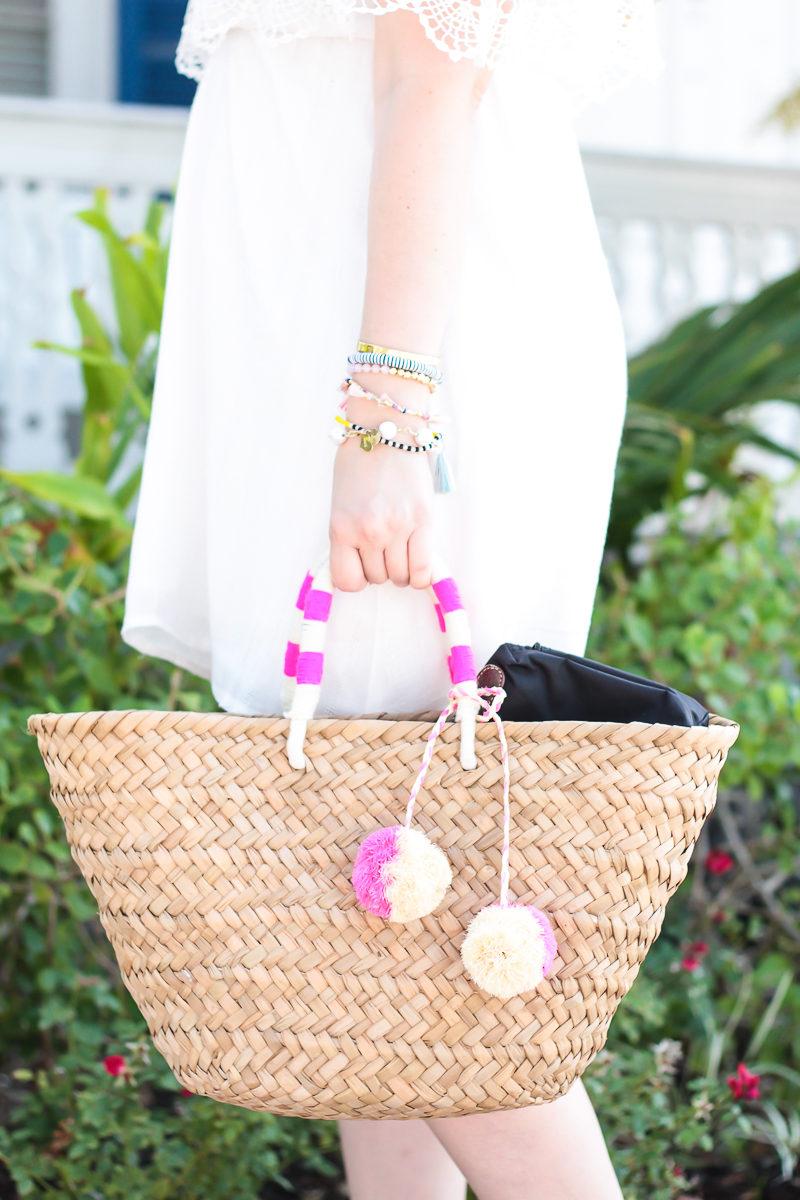 Miami fashion blogger Stephanie Pernas styles a Kayu St Tropez bag