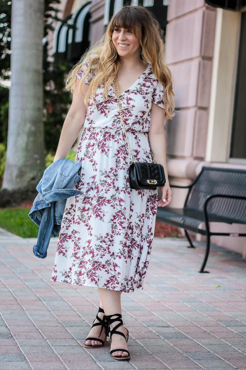Miami fashion blogger Stephanie Pernas styles a cute spring dress