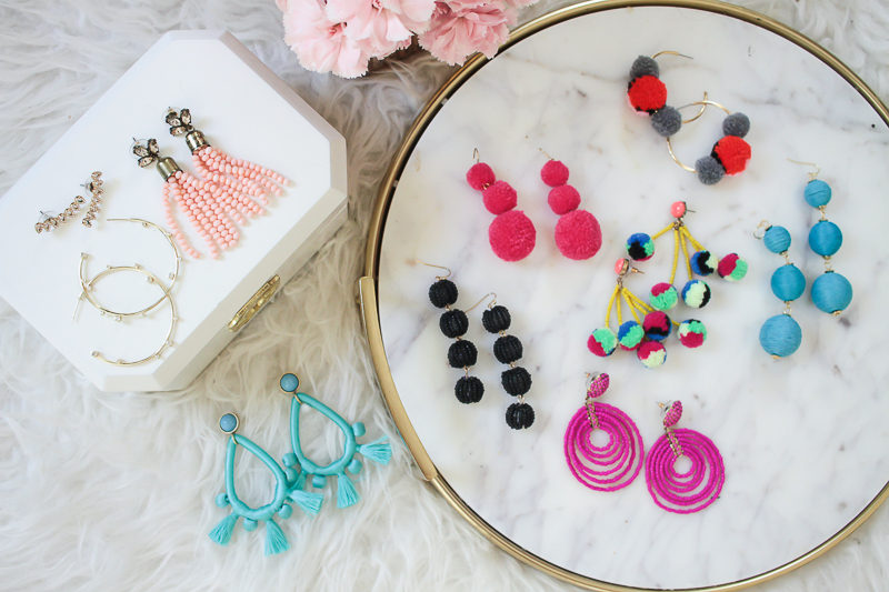 Miami fashion blogger Stephanie Pernas shares her 11 current favorite earrings from spring