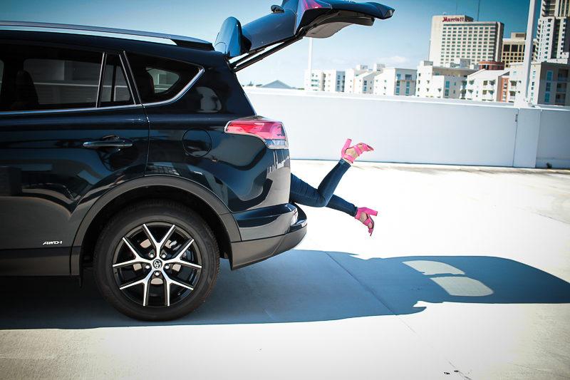 Miami fashion blogger Stephanie Pernas offers a peek into the trunk of the 2017 Toyota RAV4
