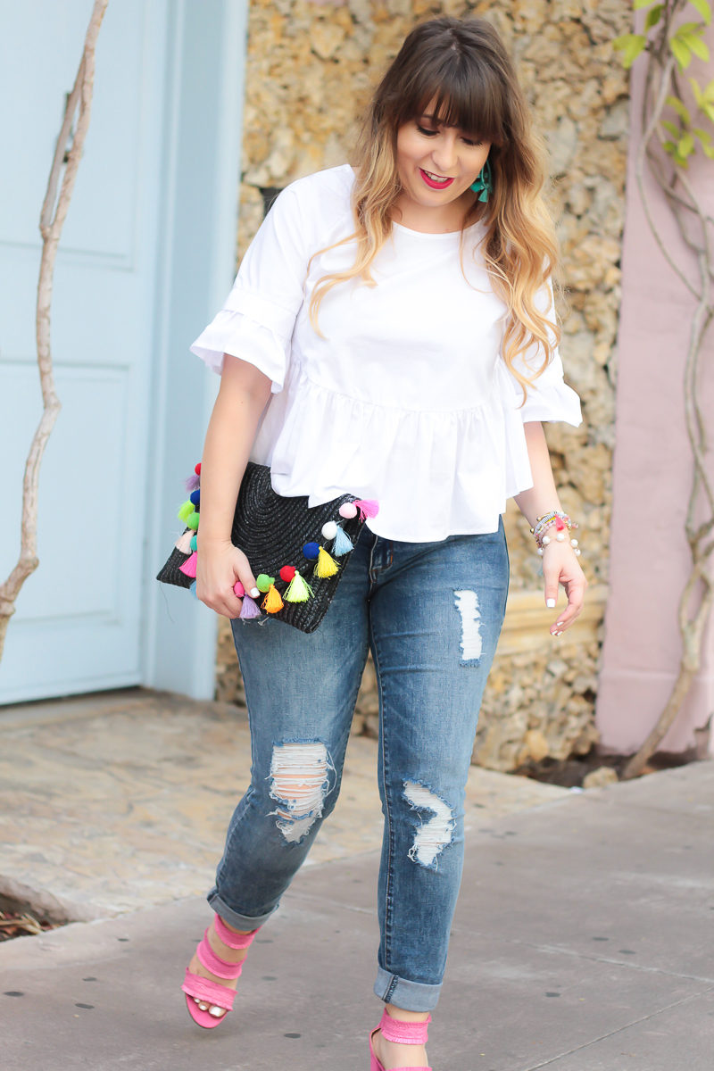 hein white peplum top + STS Blue Piper jeans-3