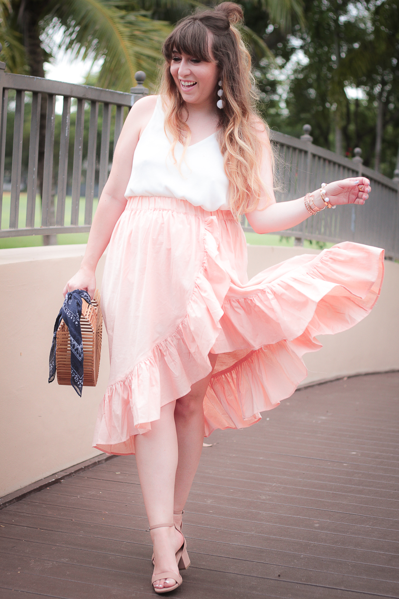 ASOS ruffle maxi skirt outfit for summer-2