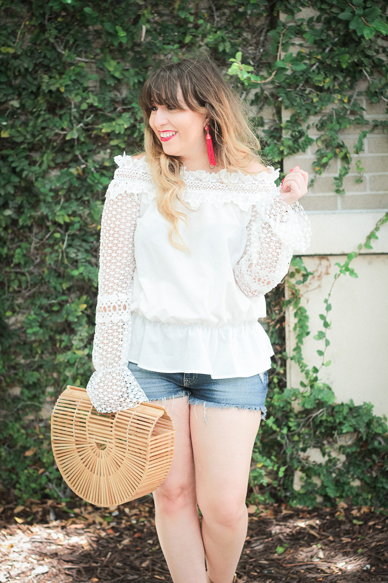 Miami fashion blogger Stephanie Pernas styles a red, white, and blue outfit idea for July 4th