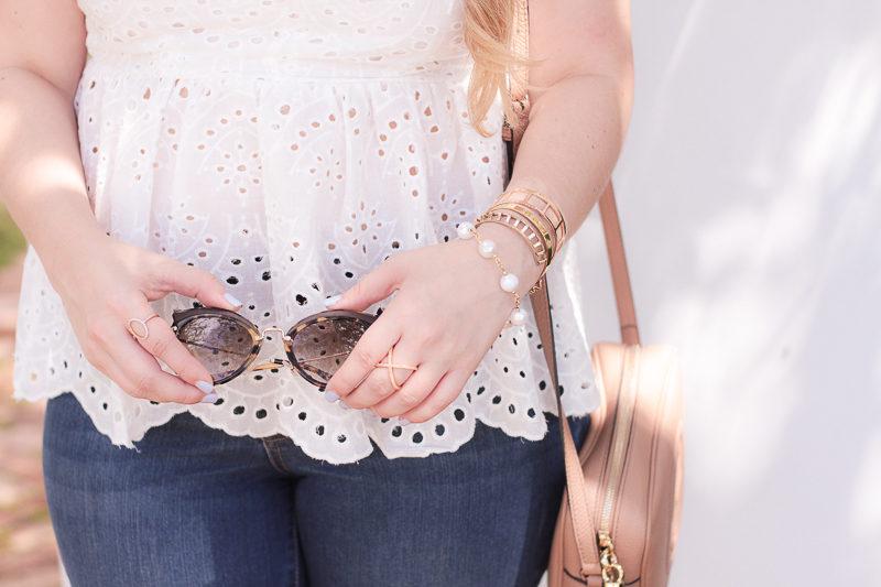 Miami fashion blogger Stephanie Pernas styles Miu Miu cat eye sunglasses