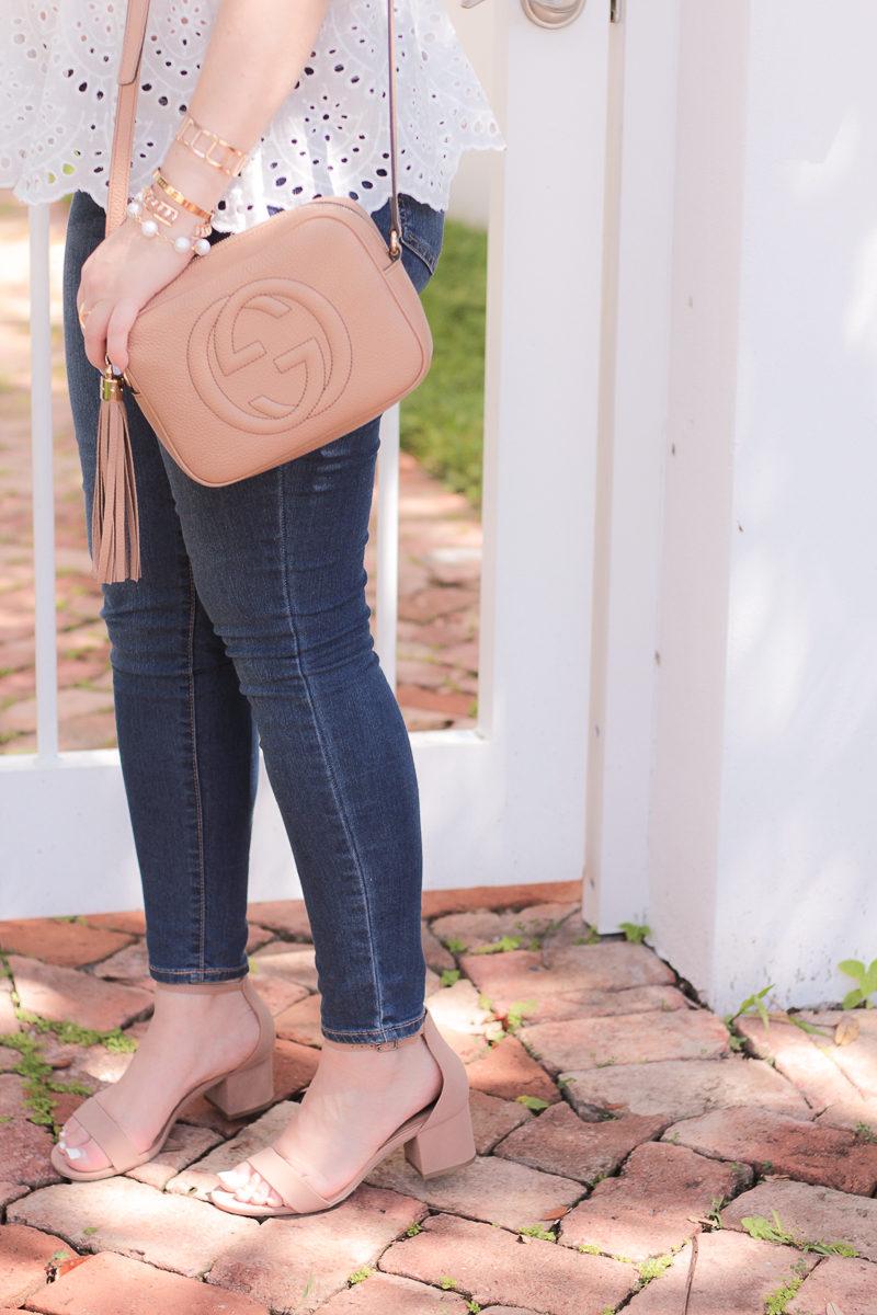 Miami fashion blogger Stephanie Pernas styling a Gucci Soho Disco bag