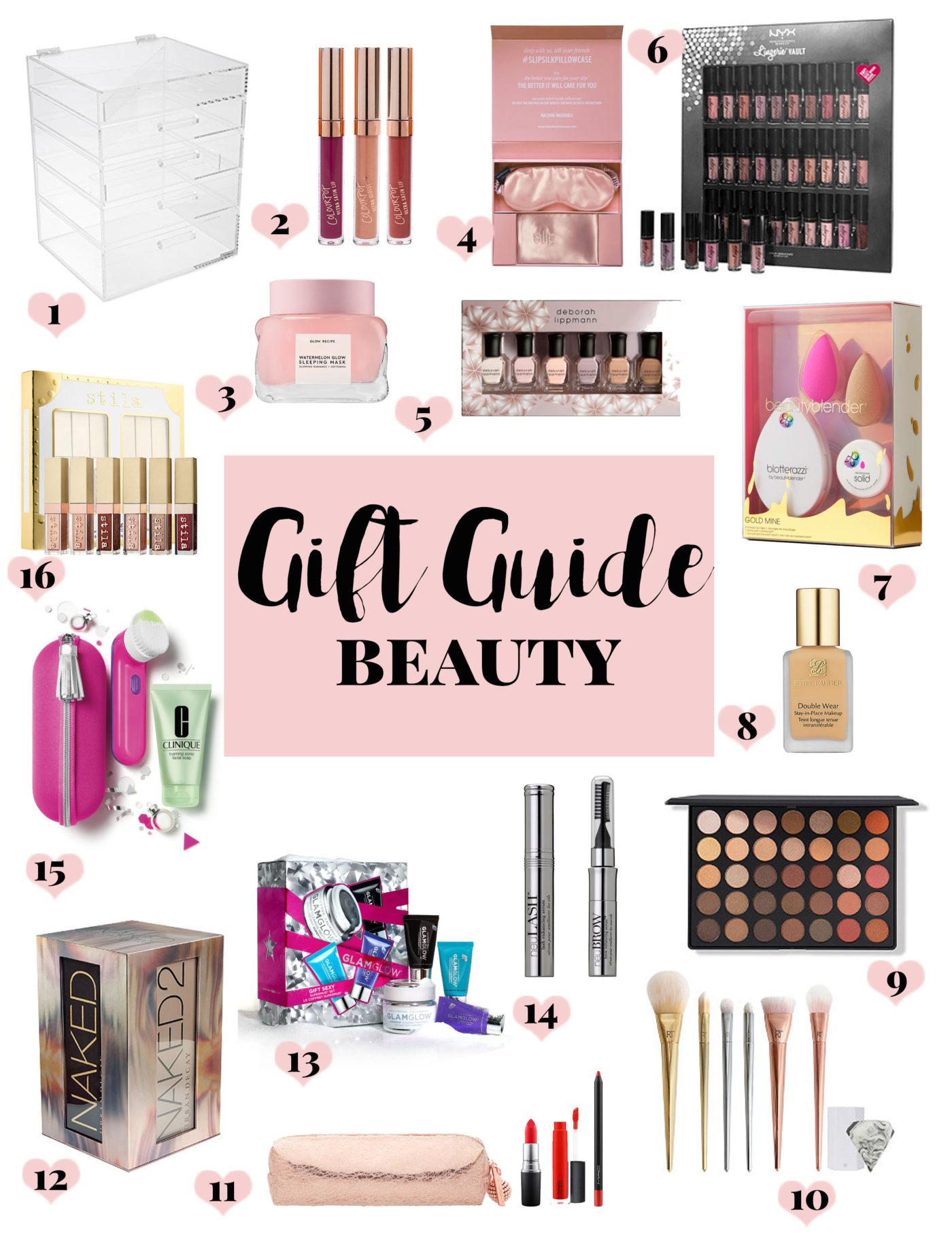 Gift Guide Beauty: beauty gift ideas