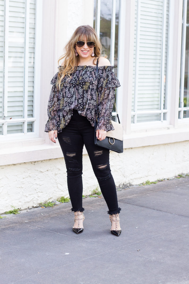 How to style an off the shoulder top