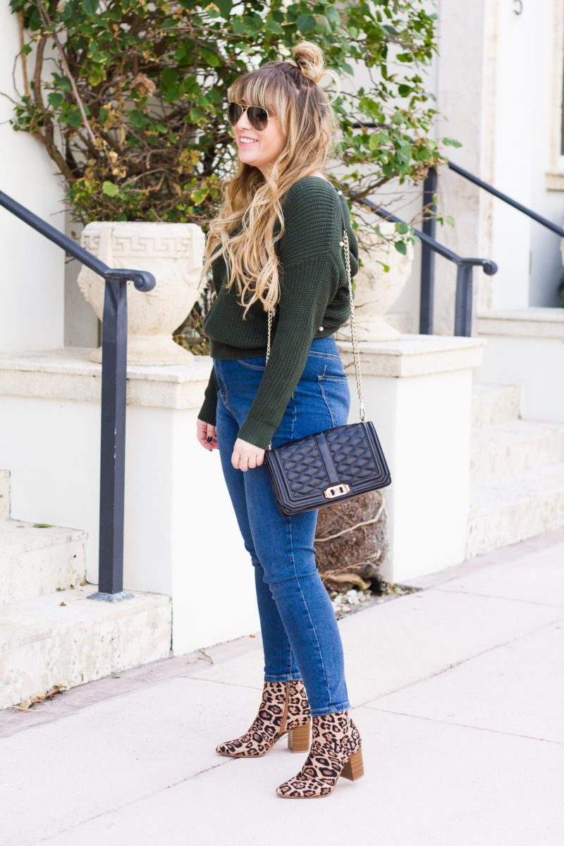 Jeans and leopard booties