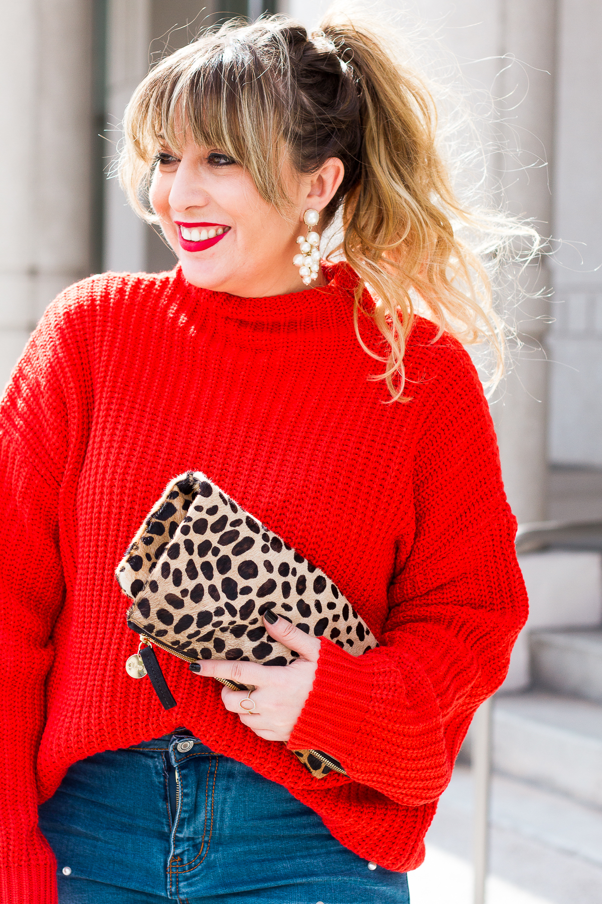 Red sweater for Valentine's Day