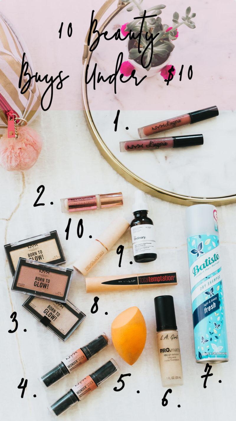 10 Beauty Buys Under $10 list