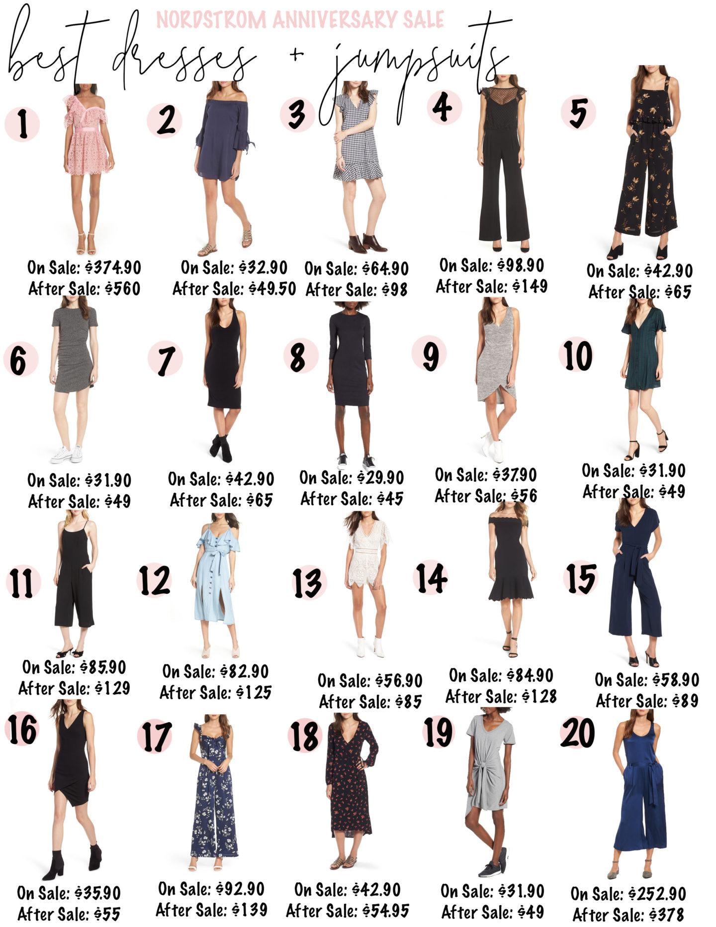 Nordstrom Anniversary Sale 2018 – Best Dresses + Jumpsuits