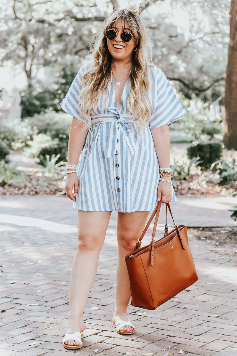 Shein-blue-and-white-stripe-dress-3