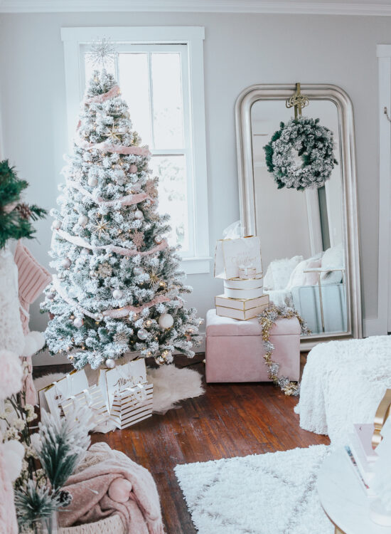 Holiday Home Tour- Glam Holiday Living Room-29