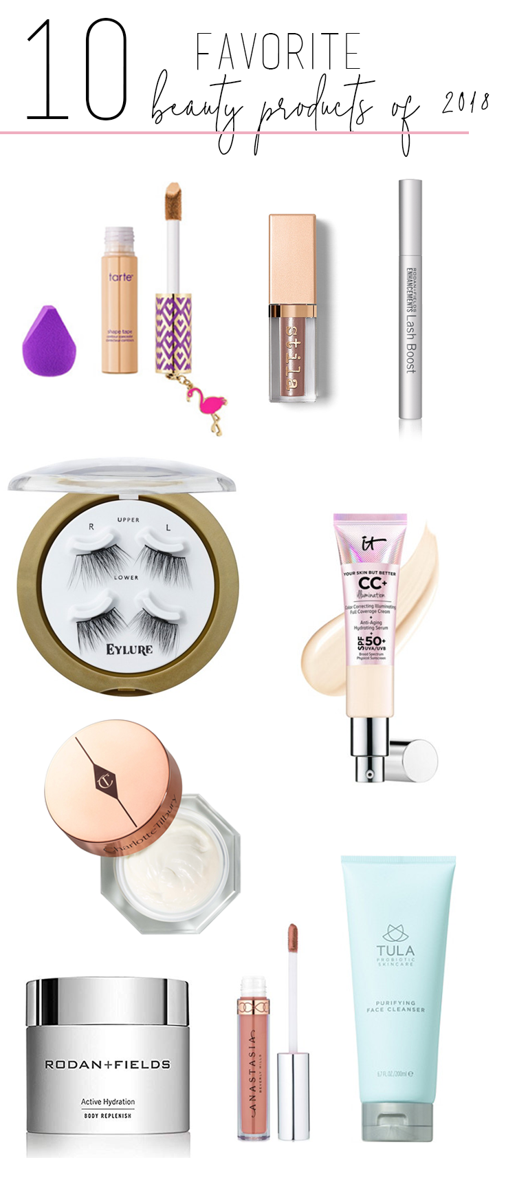 10 Favorite Beauty Products of 2018