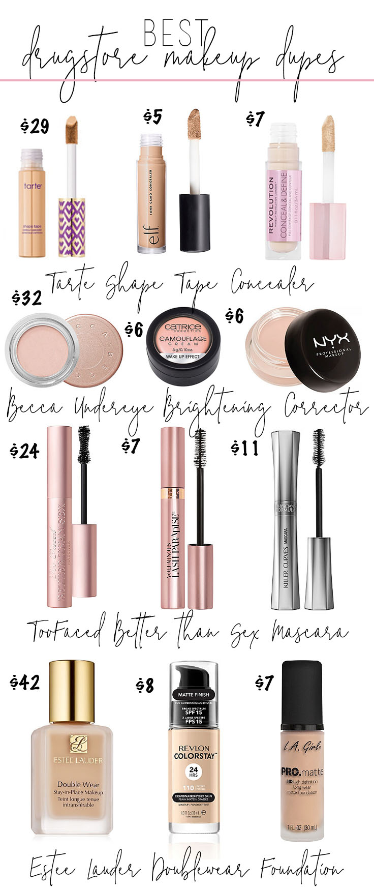 Best Makeup Dupes From The Drugstore Drugstore Makeup Dupes Stephanie Pernas
