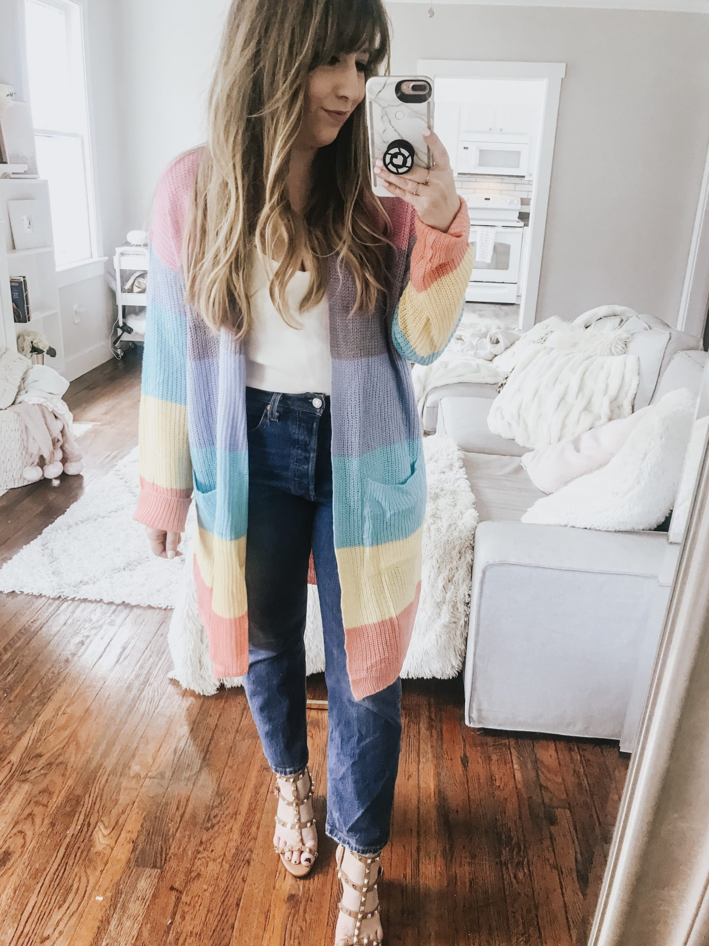 Amazon rainbow cardigan