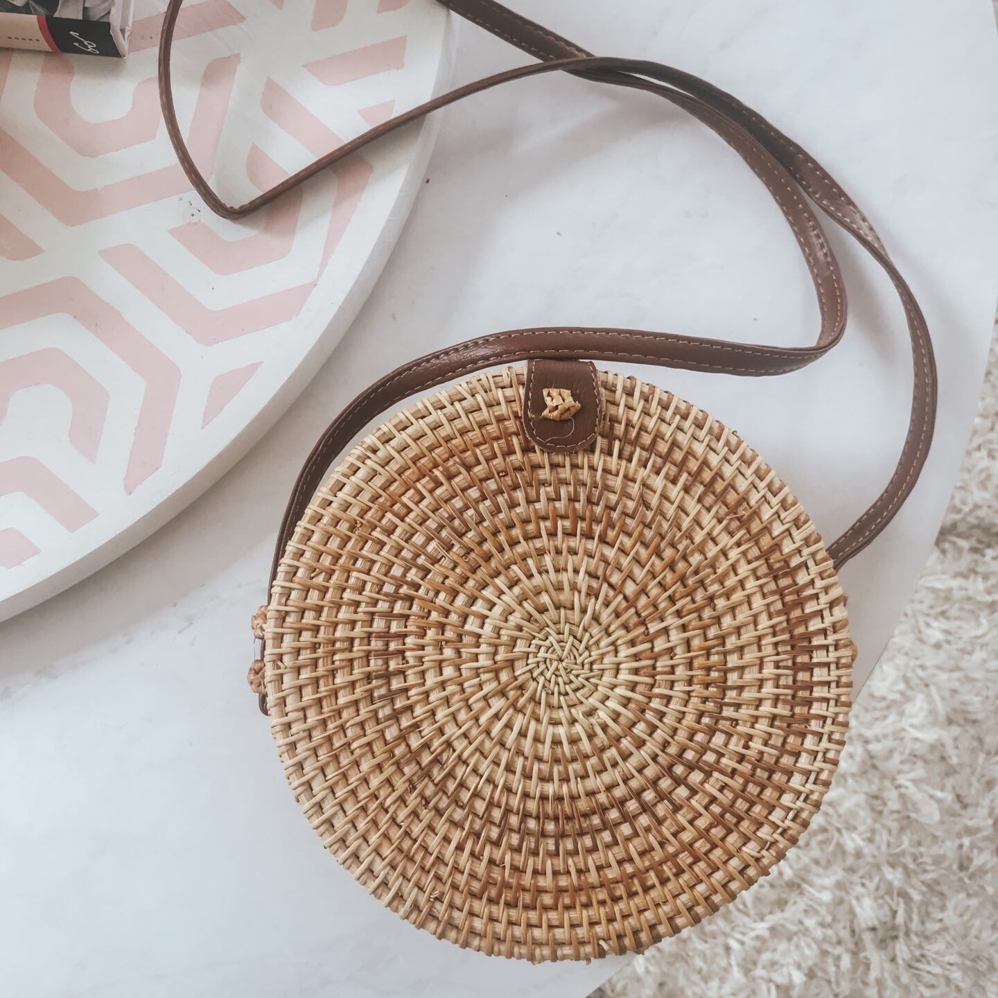 affordable straw crossbody bag