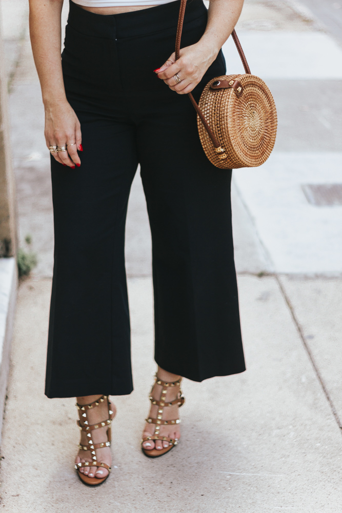 2 ways to style black wide leg crop pants – summer outfit ideas - wide leg crops - wideleg crops - wideleg pants
