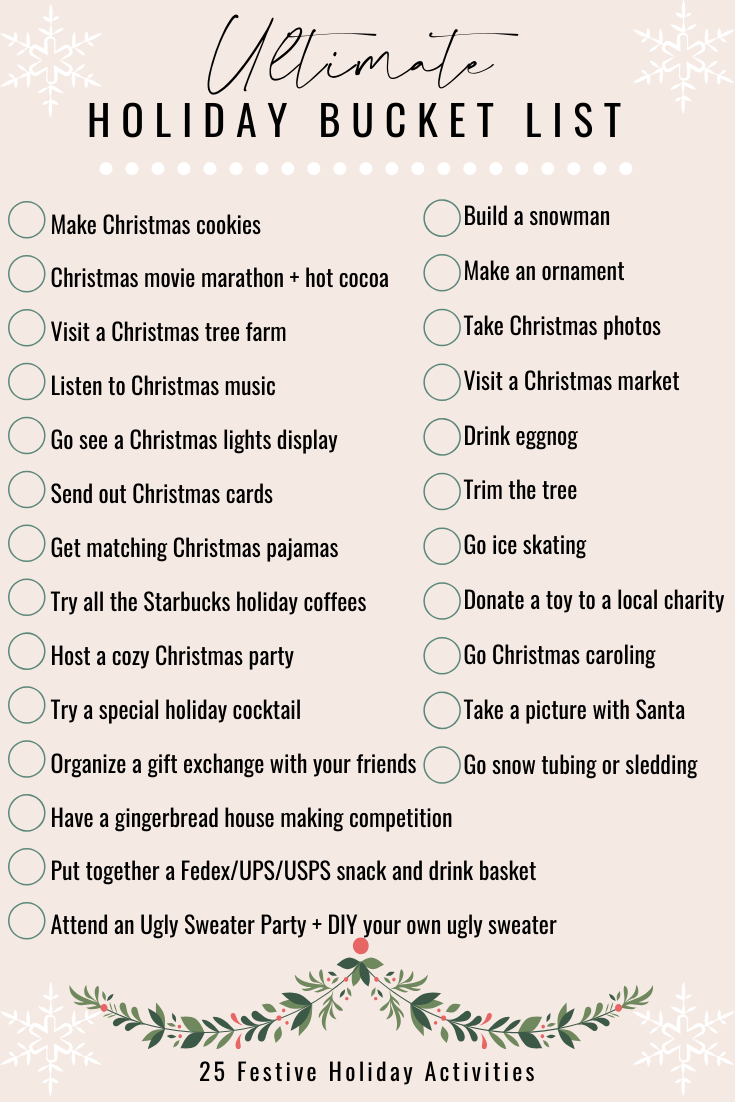 The Ultimate Holiday Bucket List