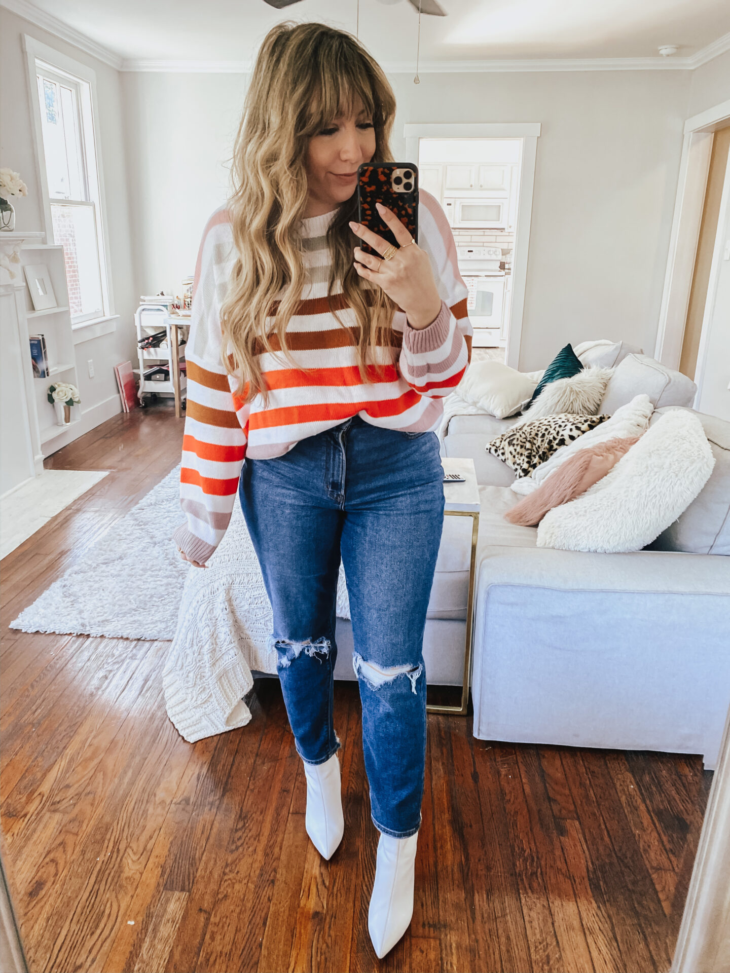 Amazon Sweater Haul - Striped Amazon Sweater