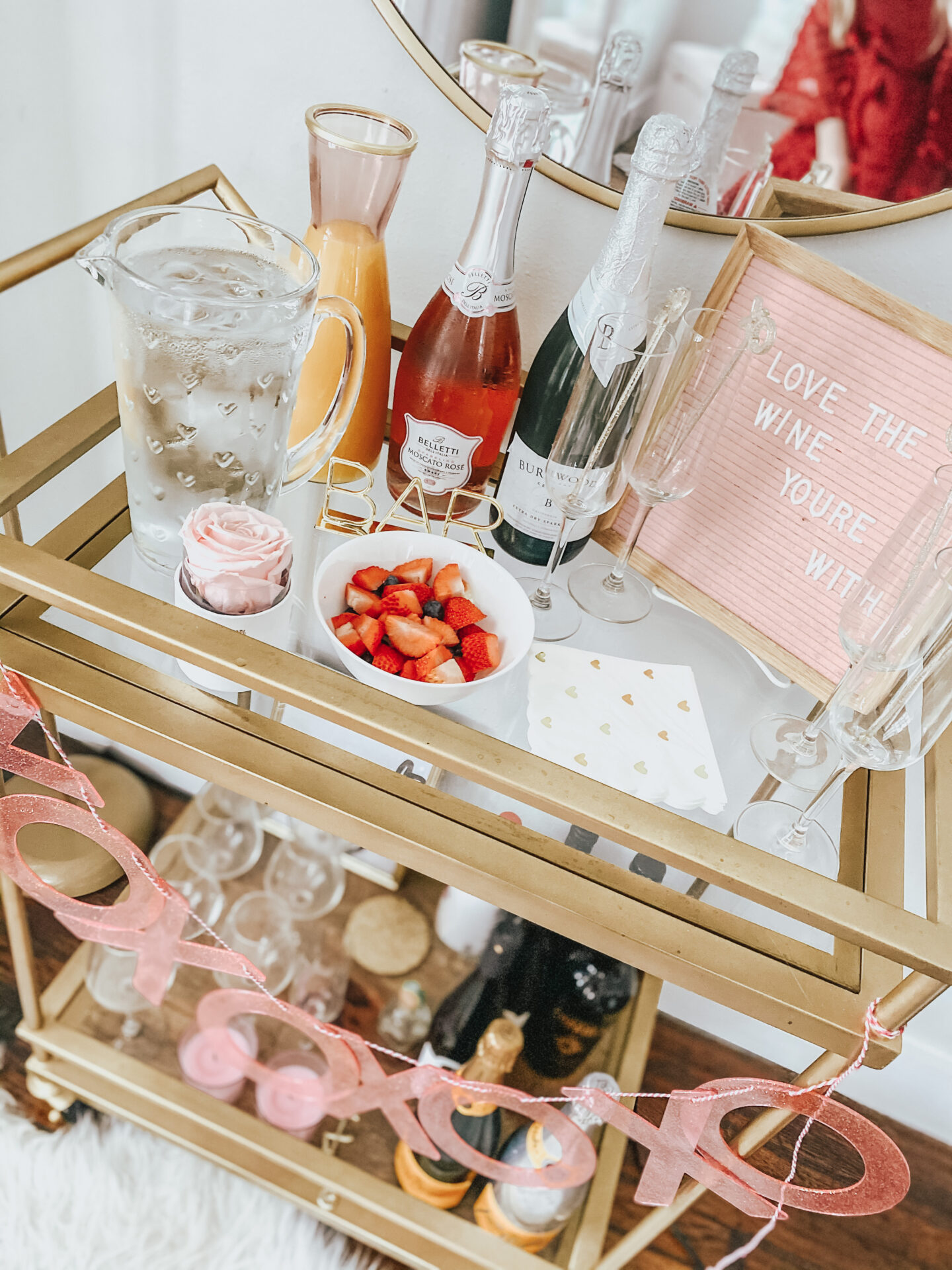 Galentine's Day mimosa bar