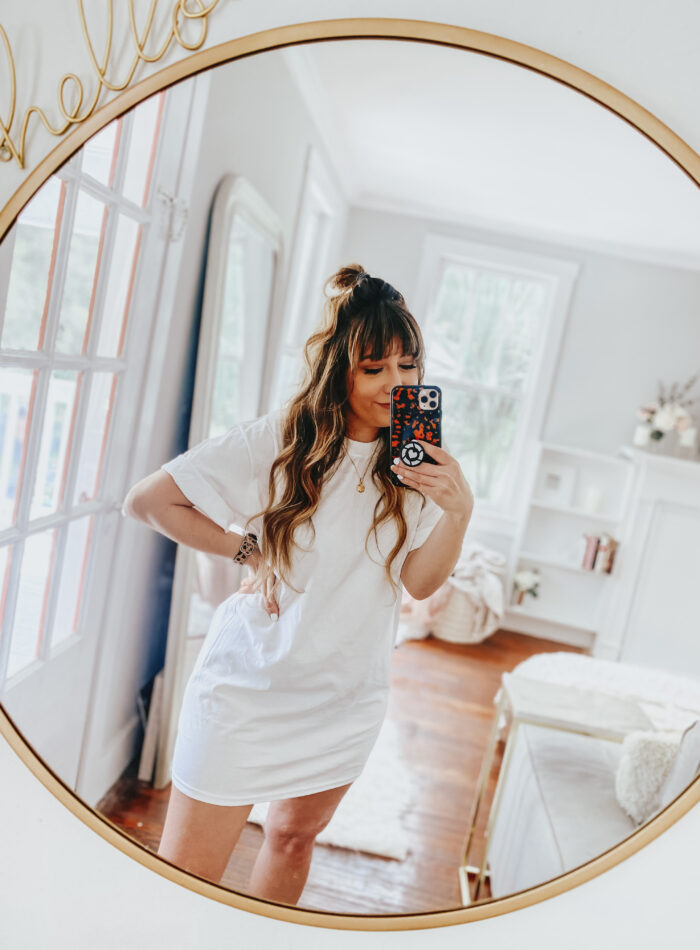 Comfy oversized t-shirt dress outfit