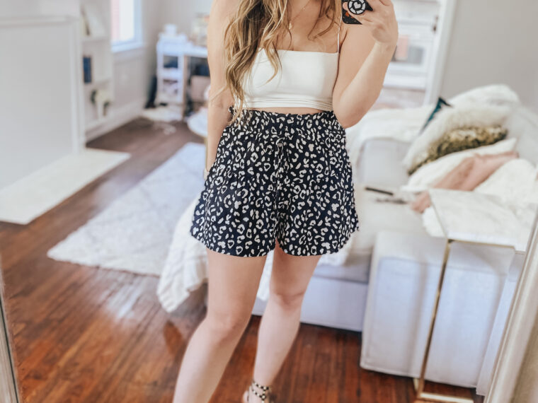Spring outfit idea, cute shorts outfits for spring