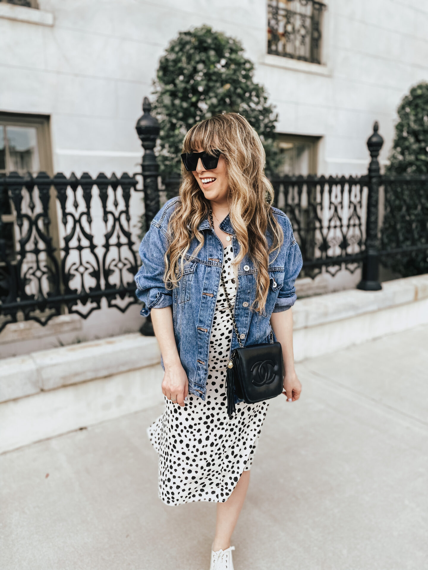 Midi Dress and Jean Jacket Outfit