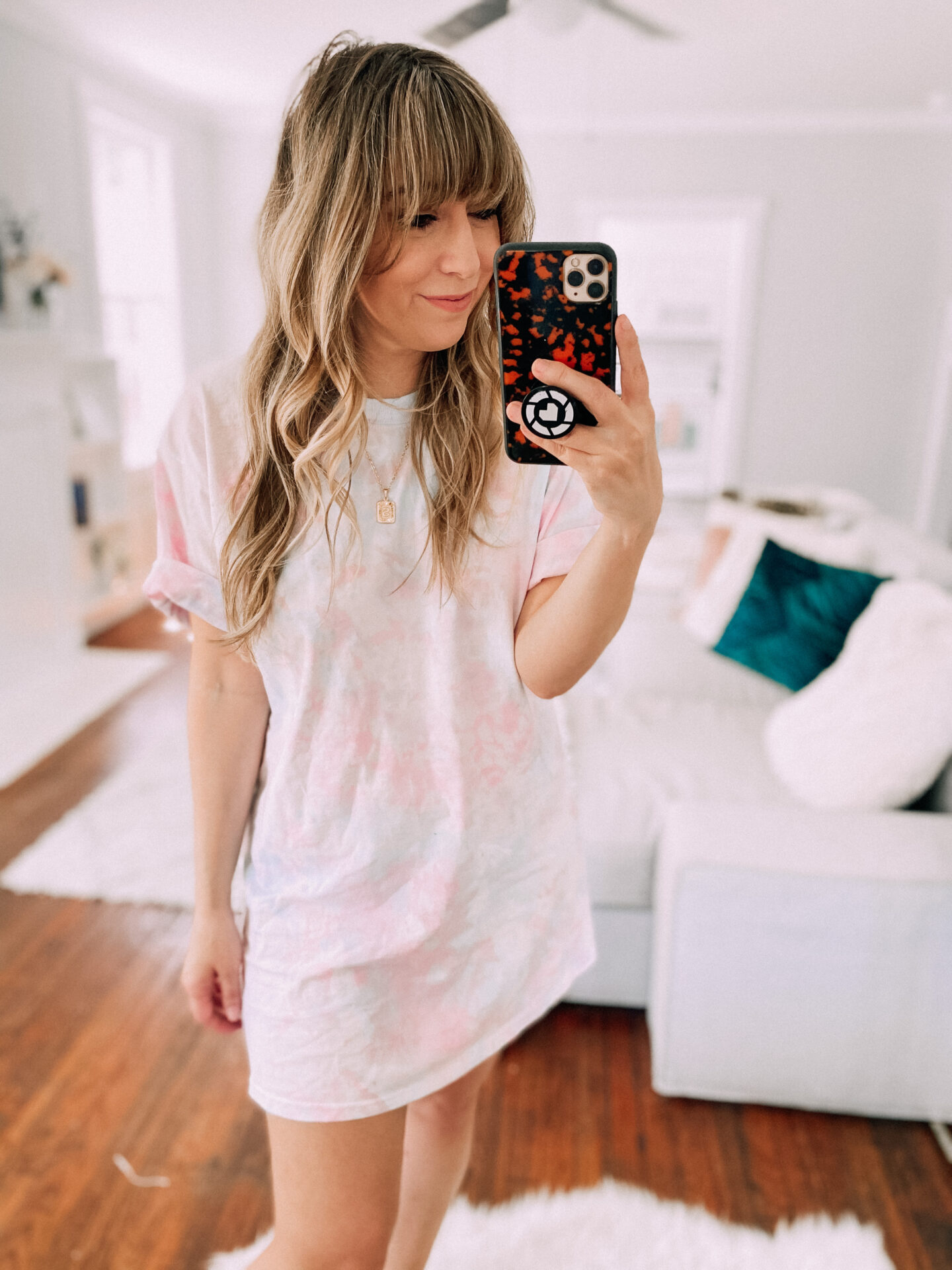 Tshirt dress tie-dye DIY