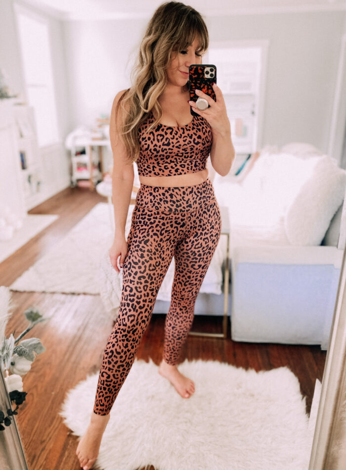 Leopard workout set from Amazon