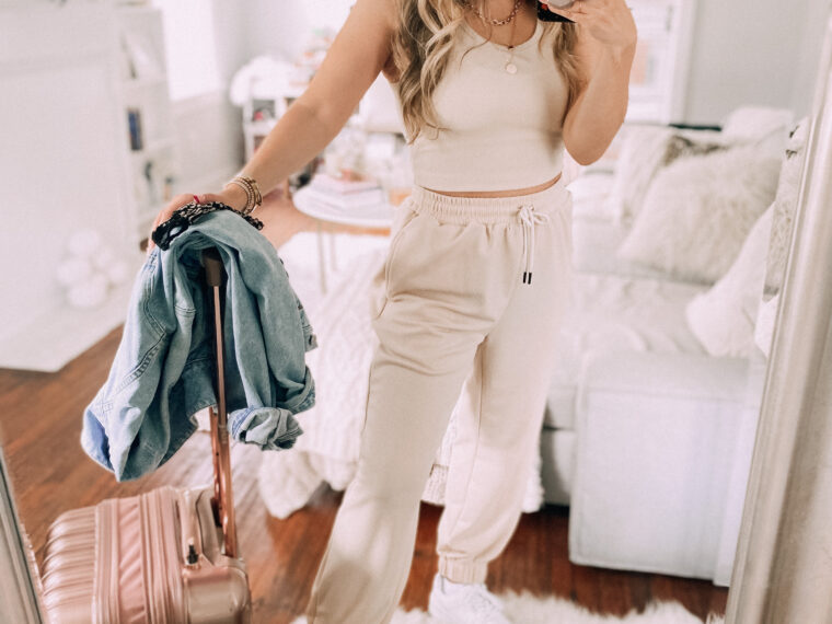 loungewear set travel outfit