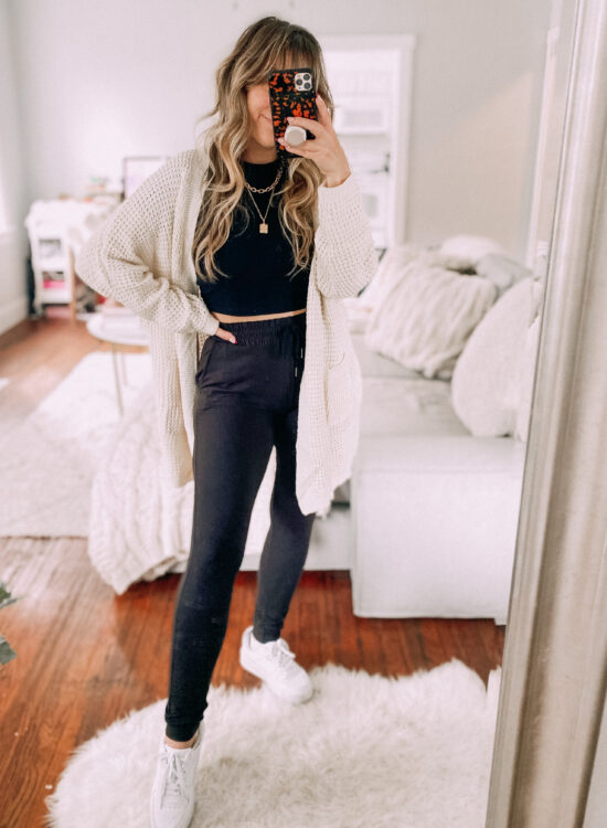 Jogger outfit idea for fall