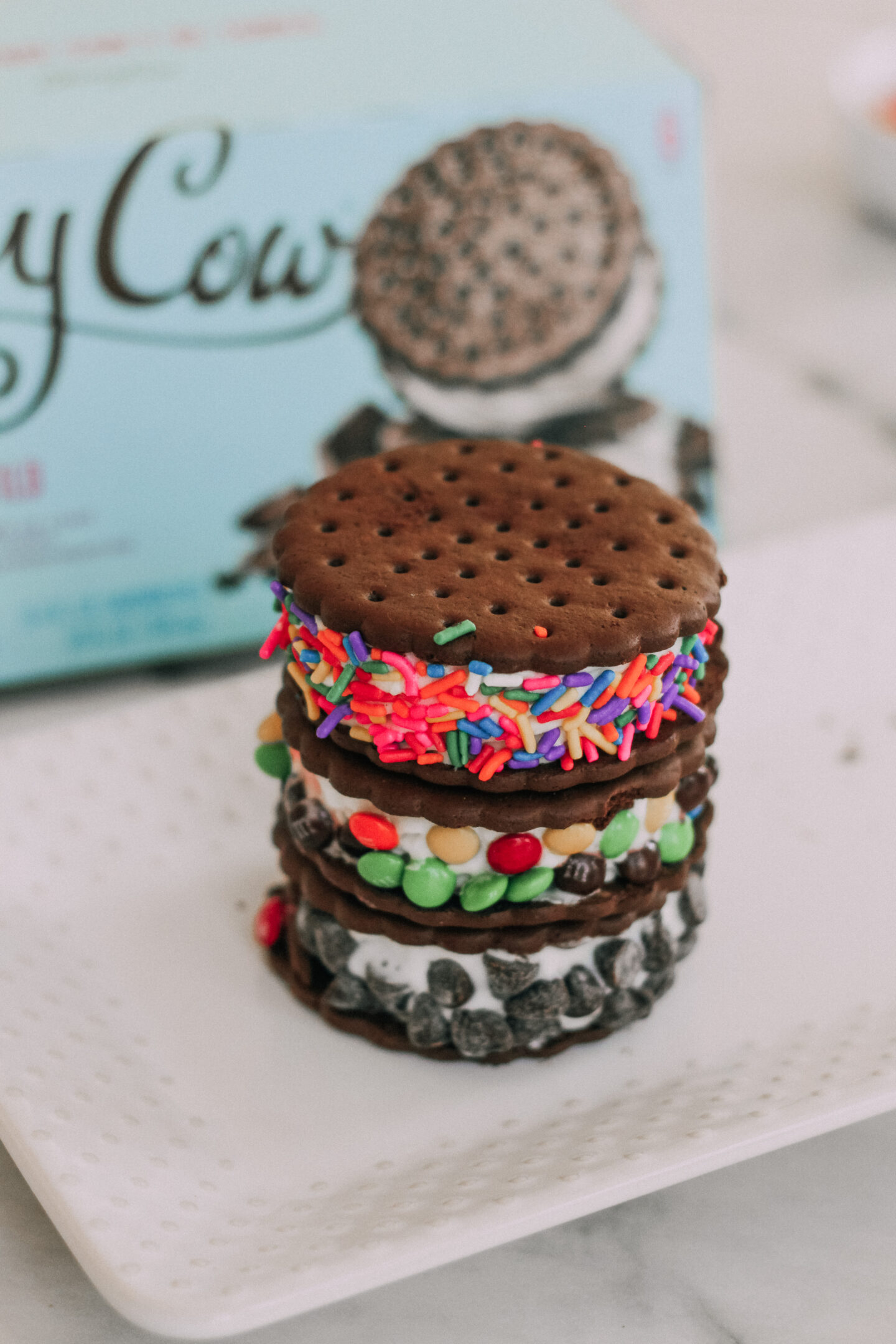 Skinny Cow Vanilla Gone Wild Ice Cream Sandwiches - my favorite sweet treat
