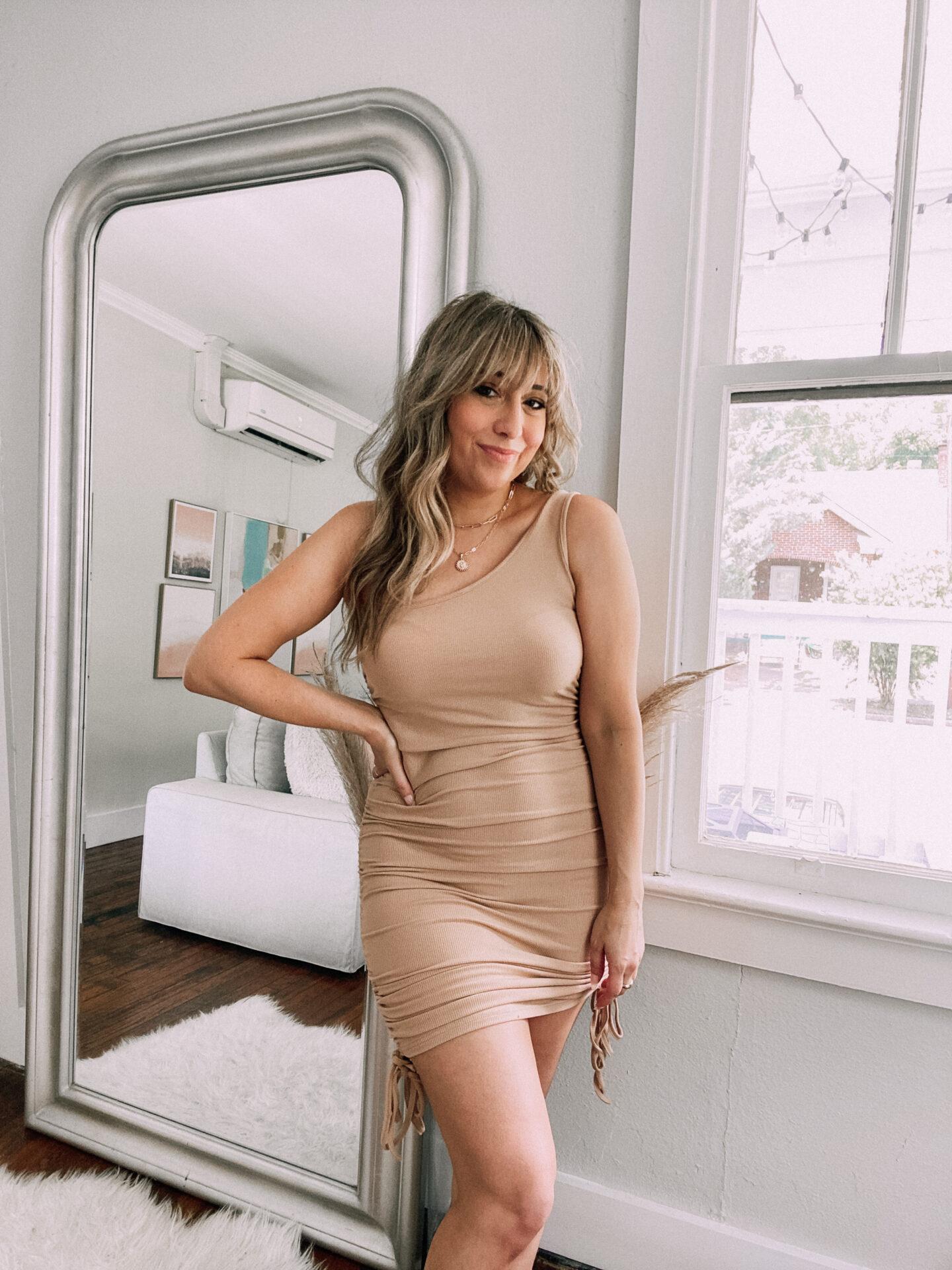 best amazon summer dresses – one shoulder lace up dress